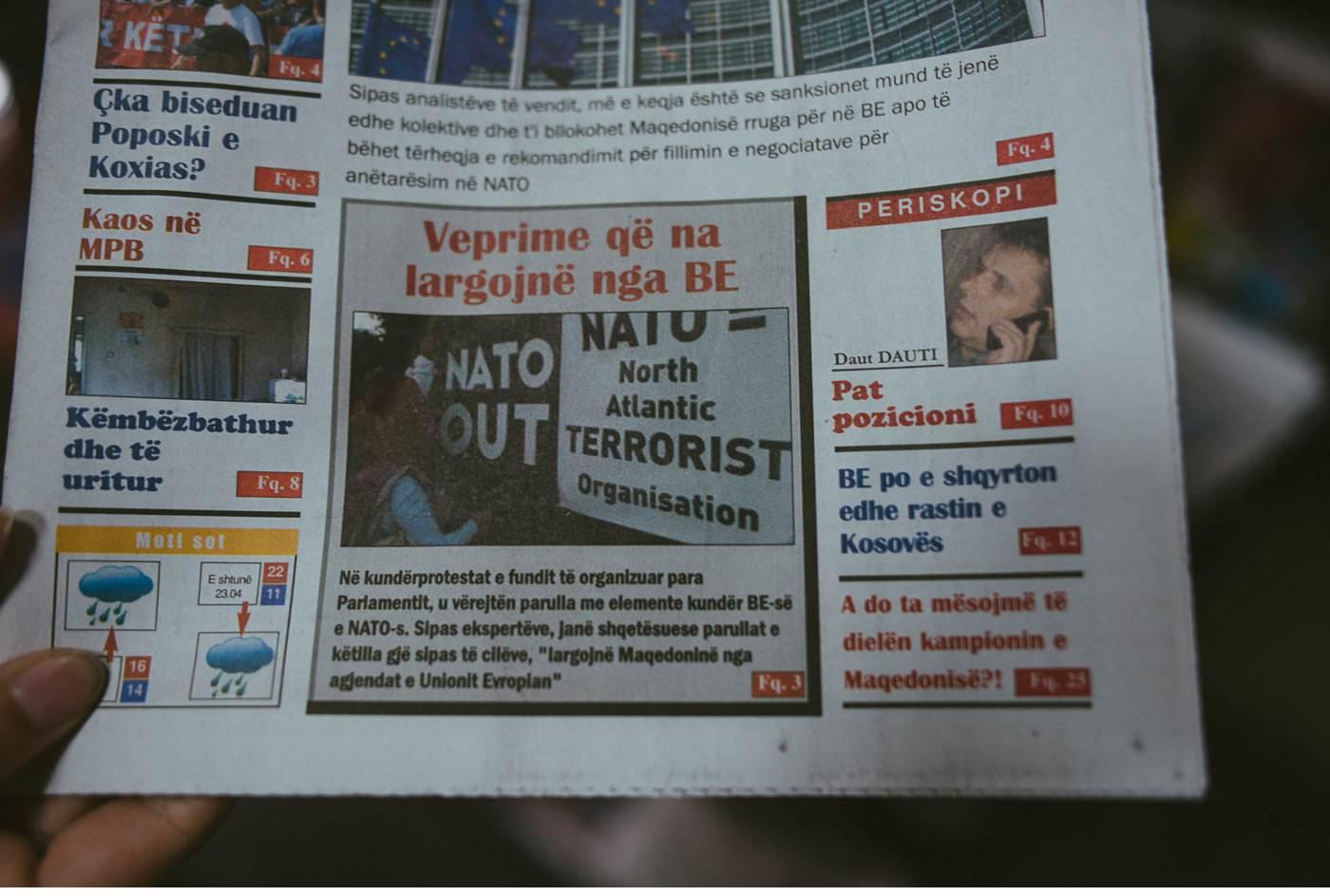 Tageszeitung in Skopje Mazedonien - NATO
