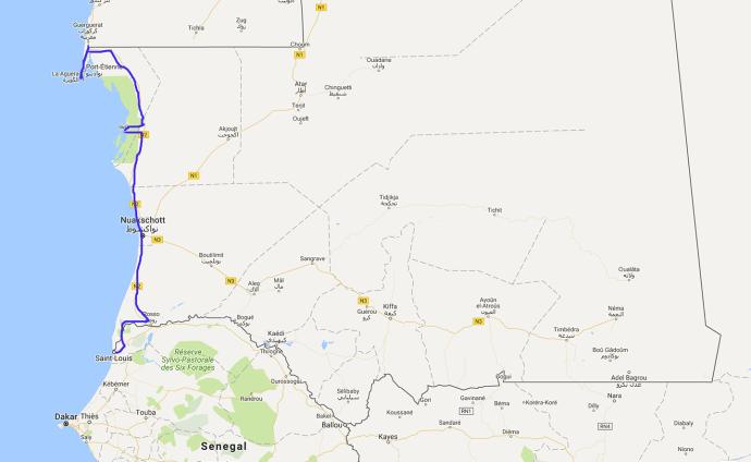Route Mauretanien