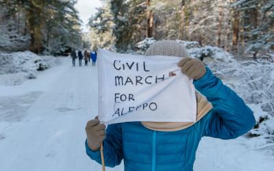 Civil March for Aleppo – Etappe von Moritzburg nach Dresden