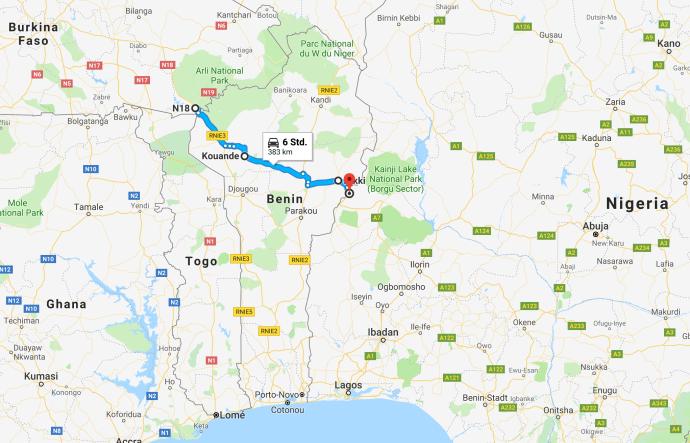 Rund um Afrika - Benin - Transafrika