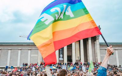 Ausgehetzt Demo in München – Für Demokratie, Freiheit und Menschenrechte