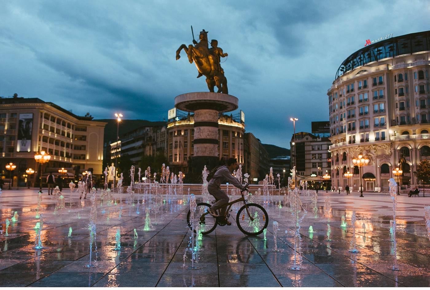 Stopover in Skopje Mazedonien - Balkan