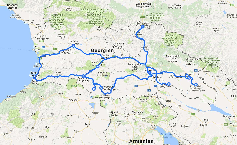 route-georgien