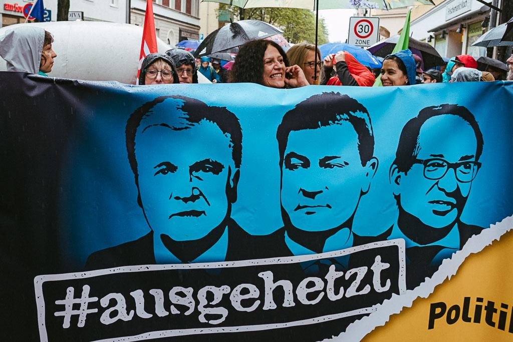 ausgehetzt Demo München - CSU - Seehofer - Söder - Demo - Human rights (103 von 48)