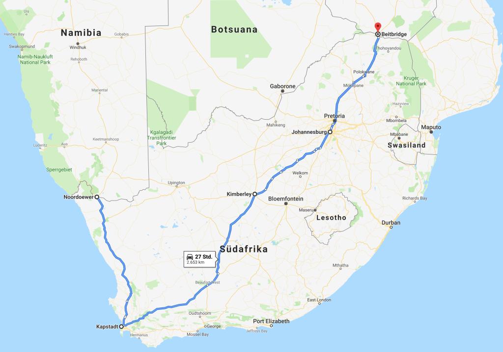 Südafrika- Africa Overland