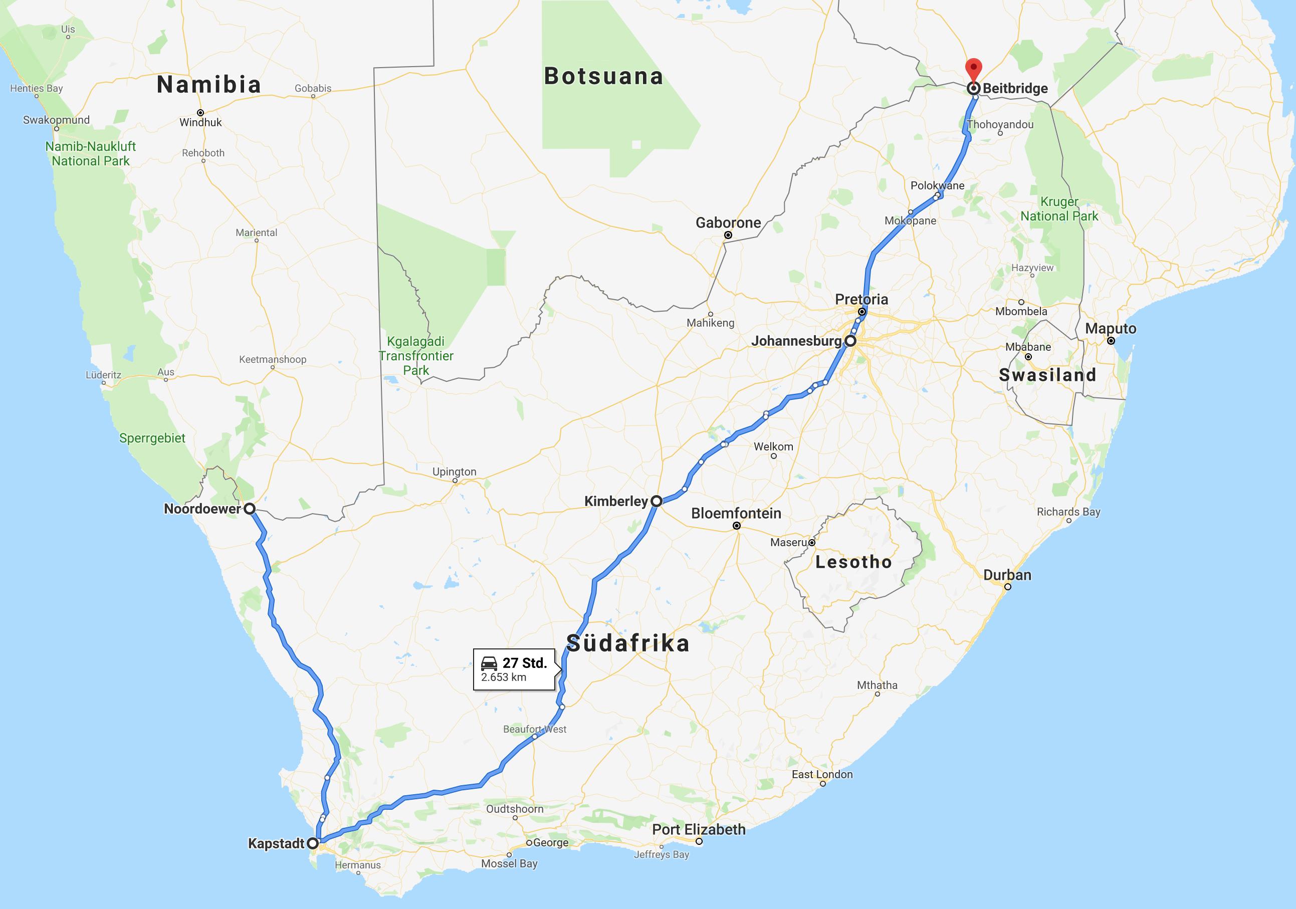 Einmal rund um Afrika - Teil 14 - Südafrika