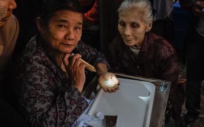 Markt der Jade Steine in Mandalay